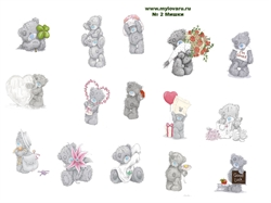 Водорастворимая бумага с рисунками №2 Мишки - фото 5070