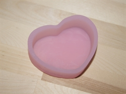 Сердце 8*5,5см  для текстуры силиконовая форма - фото 5074