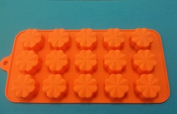 Цветочек mini (лист 15шт.) силиконовая форма - фото 5117