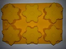 Снежинки2 (лист 6 шт.) силиконовая форма - фото 5130