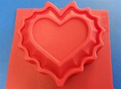 Сердце ажурное (1шт.) силиконовая форма - фото 5150
