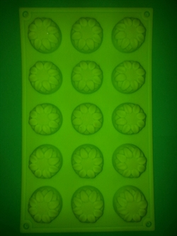 Подсолнухи mini D 40мм (лист 15шт.) силиконовая форма - фото 5203
