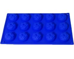 Маки mini  D 40мм (лист 15шт.) силиконовая форма - фото 5220
