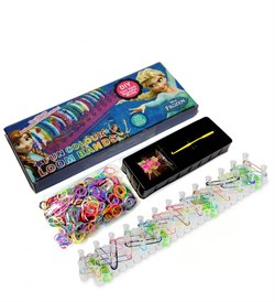 Fun colour Loom bands набор резинок для плетения 600 шт.в коробке - фото 6437