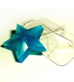 Звезда форма пластиковая - фото 7392