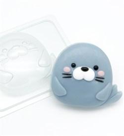 Тюлень Мультяшный форма пластиковая - фото 8838