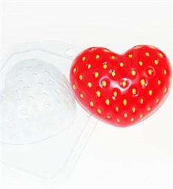 Клубничное сердце форма пластиковая - фото 8880