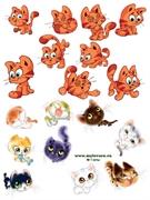 Водорастворимая бумага с рисунками №1 Коты