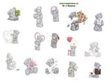 Водорастворимая бумага с рисунками №2 Мишки