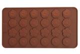 Цветочное поле (лист 24шт.; D22мм,H3мм) силиконовая форма