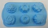 Цветочки набор (лист 6шт.) силиконовая форма