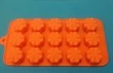Цветочек mini (лист 15шт.) силиконовая форма