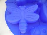 Стрекоза (1шт.) насекомые силиконовая форма