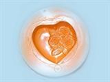Сердце с розочкой силиконовая форма