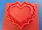 Сердце ажурное (1шт.) силиконовая форма
