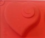 Сердечки с Завитками (1шт.) силиконовая форма