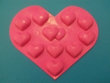 Сердечки mini в сердечке2 силиконовая форма