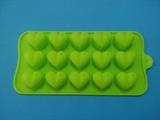 Сердечки mini (лист 15шт.) силиконовая форма