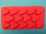 Сердечки mini (лист 14шт.) силиконовая форма