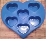 Сердечки (лист 6шт.) силиконовая форма