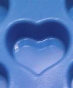 Сердечки (1шт.) силиконовая форма