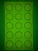 Подсолнухи mini D 40мм (лист 15шт.) силиконовая форма