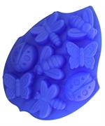 Насекомые (лист 8шт.) силиконовая форма