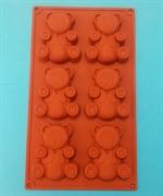 Медвежонок 7*9см (лист 6шт.) силиконовая форма