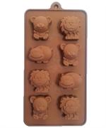 Зоопарк mini (лист 8шт.) силиконовая форма