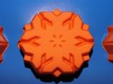 Снежинки (лист 6 шт.) силиконовая форма