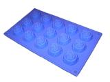 Розочки mini D 40мм (лист 15шт.) силиконовая форма
