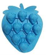 Клубника мини (лист 10 шт.) силиконовая форма