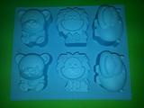 Зоопарк (лист 6шт.) силиконовая форма