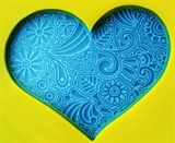 Кружевное сердце Штамп