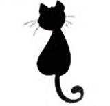 Кот средний Штамп