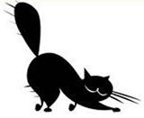 Кот маленький Штамп