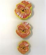 Анютины глазки набор 3 шт. 2D силиконовая форма