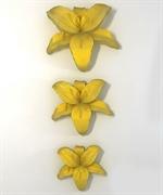 Лилия набор 3 шт 2D силиконовая форма