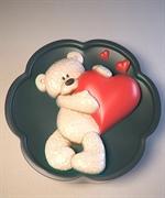 Мишка с сердцем2 2D силиконовая форма
