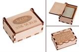 Коробка для мыла из кедрового шпона с логотипом