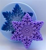 Снежинка3 2D силиконовая форма