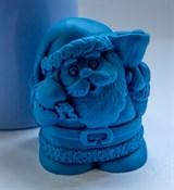 Санта с колокольчиком 3D силиконовая форма