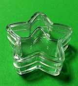 Баночка-помадница Звезда 3мл прозрачный пластик