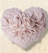 Сердце с розами2 2D силиконовая форма
