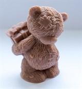 Мишка с подарком 3D силиконовая форма