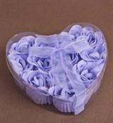 Мыльные розы в сердце (12шт.)