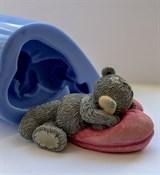 Мишка на подушке 3D силиконовая форма