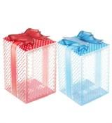 Коробочка 8*8*12см прозрачная с рисунком (пластик)