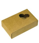 Коробочка с окошком Сердечко (7х11х3см)