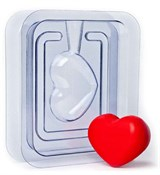 Сердечко 3D форма пластиковая